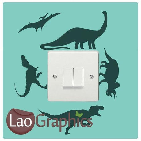 Dinosaurs Light Switch Boys Bedroom Wall Stickers Home Decor Art Decals-LaoGraphics