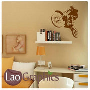 Dirt Bike MotorCross Vehicle & Transport Wall Stickers Home Decor Art Decals-LaoGraphics