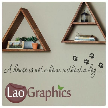 Dog Quote Canine Puppy Dog Lovers Wall Stickers Home Decor Art Decals-LaoGraphics