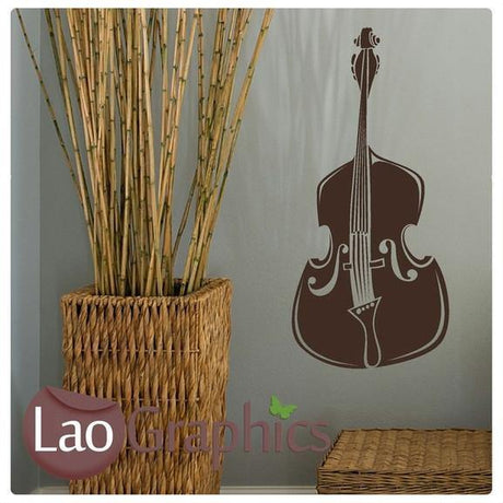 Double Bass Cello Musical Wall Stickers Home Decor Music Art Decals UK-LaoGraphics