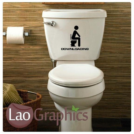 Downloading Funny Bathroom Toilet Stickers Home Decor Joke Art Decals-LaoGraphics