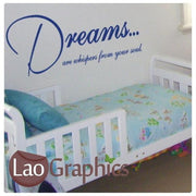 Dreams are Whispers Vinyl Quote Wall Stickers Home Decor Art Decals UK-LaoGraphics