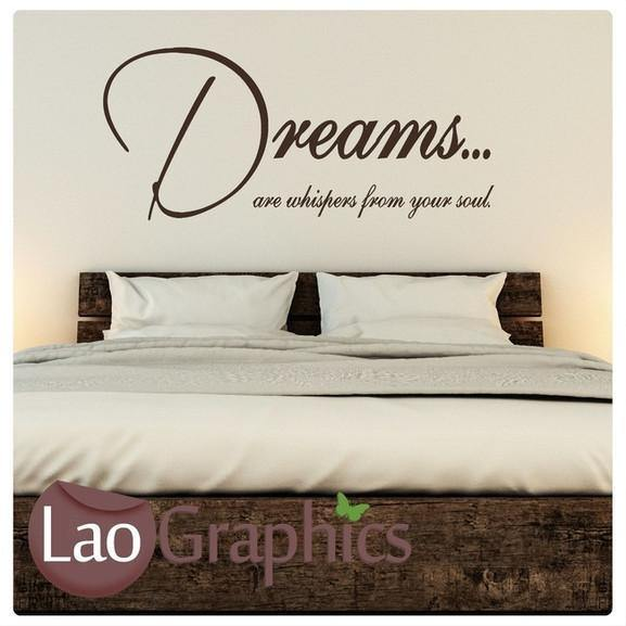 Dreams Are Whispers Vinyl Quote Wall Stickers Home Decor Art Decals