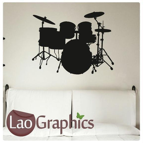 Drums Musical Wall Stickers Home Decor Music Art Decals Vinyl Transfer-LaoGraphics