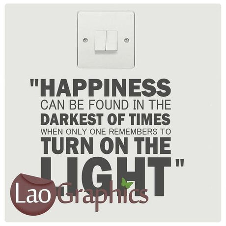 Dumbledoor quote Light SwitcH Art Decals Home Decor Cute Wall Stickers-LaoGraphics