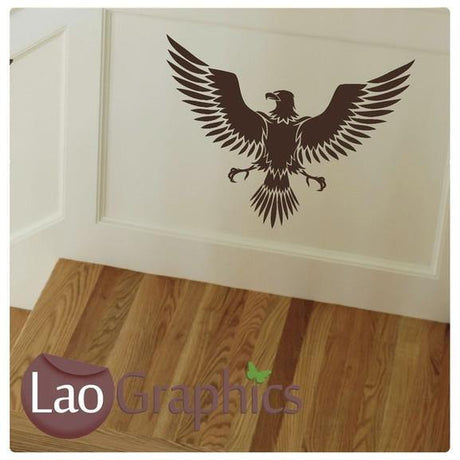 Eagle Wall Stickers Bird Home Decor Animal Art Decal Badge Transfers-LaoGraphics