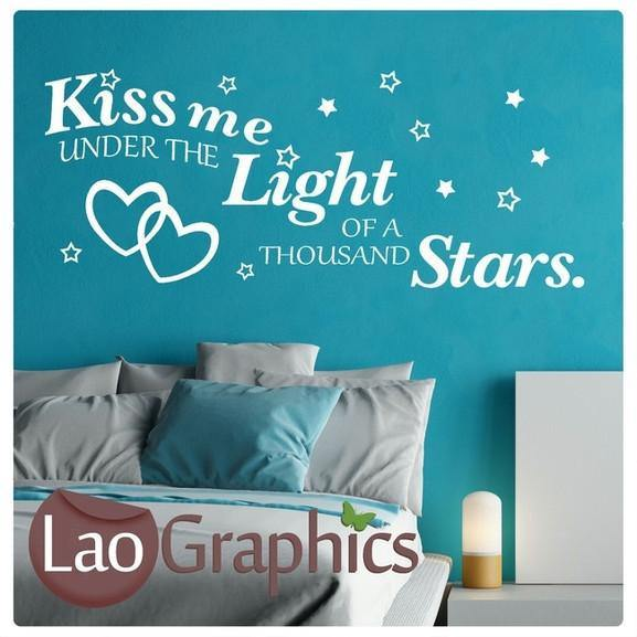 Ed sheeran thinking out loud romantic quote wall stickers home decor art decals laographics