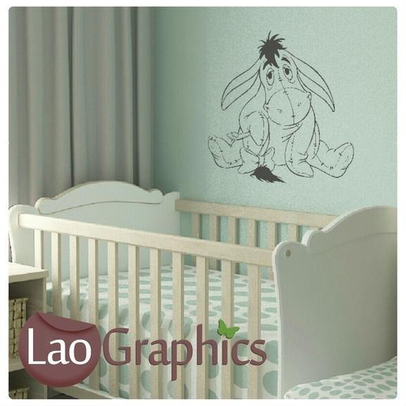 eeyor winnie the pooh wall stickers nursery home decor art decals uk laographics. Black Bedroom Furniture Sets. Home Design Ideas