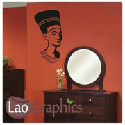 Egypt Queen Nefertiti Theme Style Wall Stickers Home Decor Art Decals-LaoGraphics
