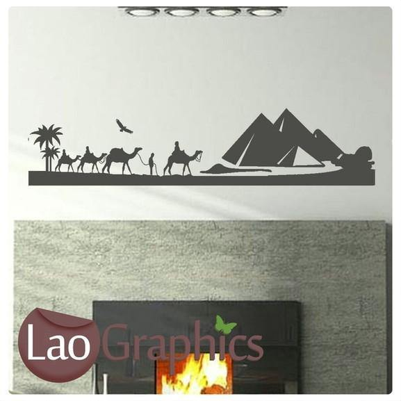 Egyptian Landscape Theme Style Wall Sticker Egypt Home Decor Art Decal-LaoGraphics
