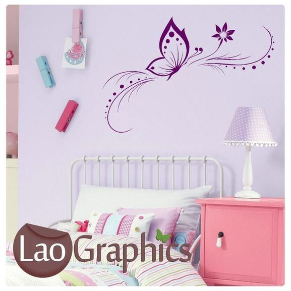Elegant Butterfly Girls Bedroom Wall Stickers Home Decor Art Decals UK-LaoGraphics