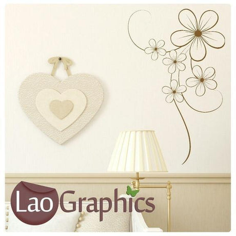Elegant Flower Large Modern Wall Stickers Home Decor Vinyl Art Decals-LaoGraphics