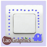 Elephant & Dots Light Switch Art Decals Home Decor Cute Wall Stickers-LaoGraphics