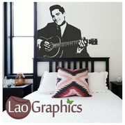 Elvis Presley & Guitar Wall Stickers Home Decor Celebrity Art Decals-LaoGraphics