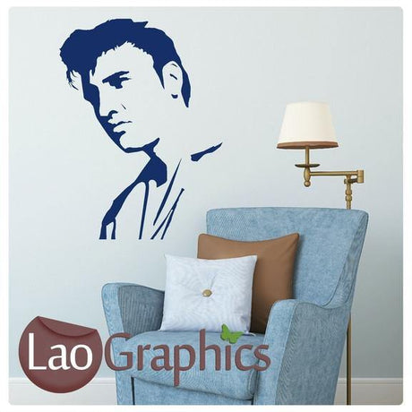 Elvis Presley Head Wall Stickers Home Decor Vinyl Art Decal Transfers-LaoGraphics