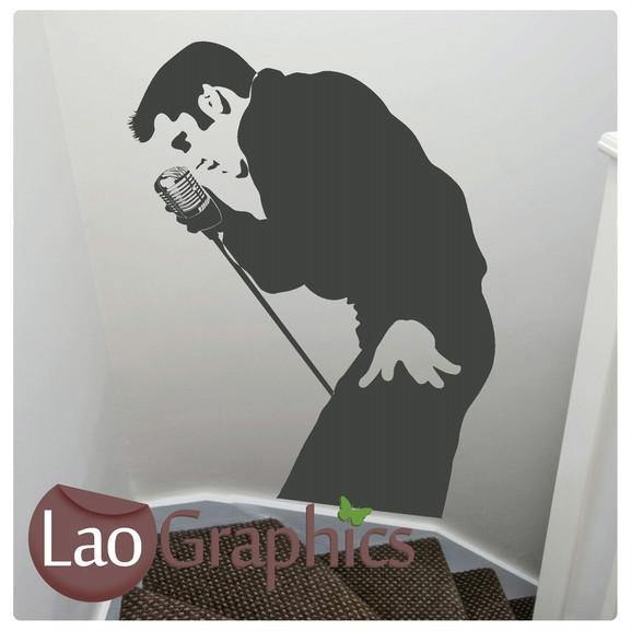 Elvis Presley Singing Wall Stickers Home Decor Celebrity Vinyl Decals-LaoGraphics