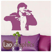Eminem Wall Stickers Rap God Home Decor Celebrity Vinyl Art Decals UK-LaoGraphics