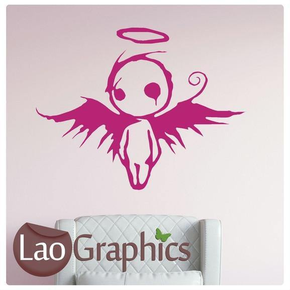Emo / Gothic Angel Gothic Style Teen Wall Stickers Home Decor Art Decals-LaoGraphics