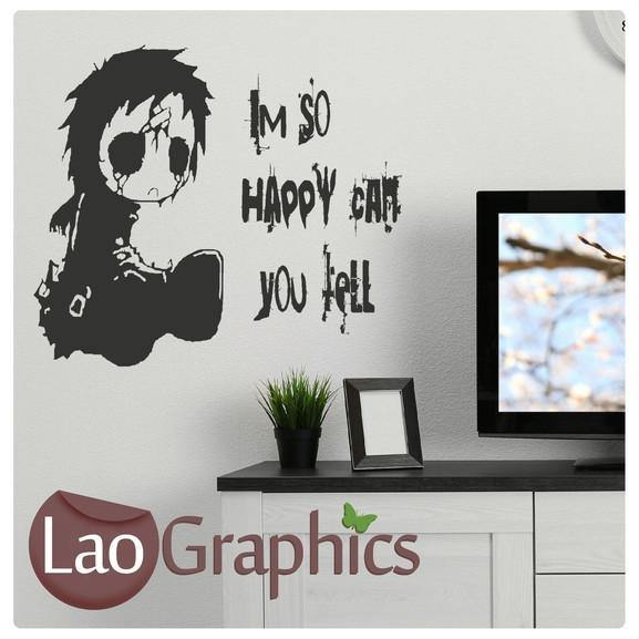 Emo Quotes About Girl: Emo Quote Gothic Style Teen Wall Stickers Home Decor Art