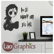 Emo Quote Gothic Style Teen Wall Stickers Home Decor Art Decals-LaoGraphics