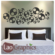 Emo Skulls Gothic Style Teen Wall Stickers Home Decor Art Decals-LaoGraphics