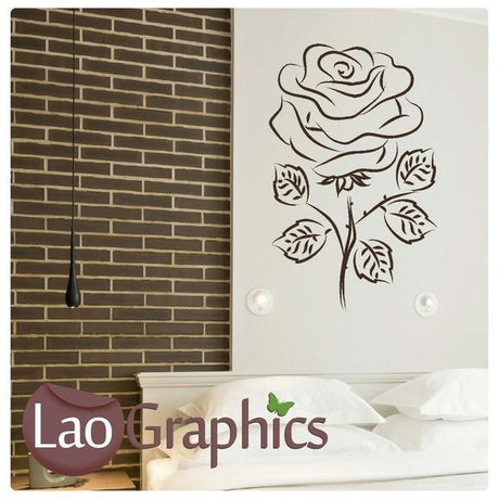 English Rose Modern Interior Wall Stickers Home Decor Art Decals-LaoGraphics