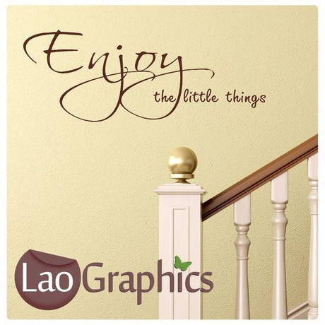 Enjoy The Little Things Inspiring Quote Wall Stickers Home Decor Art Decals-LaoGraphics