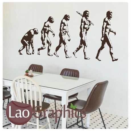 Evolution of Man Vinyl Transfer Wall Stickers Home Decor Art Decals-LaoGraphics