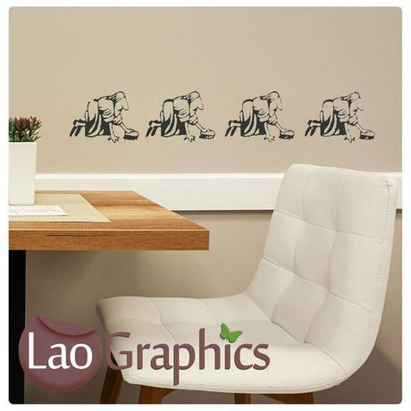 Evolution of Woman Vinyl Transfer Wall Stickers Home Decor Art Decals-LaoGraphics