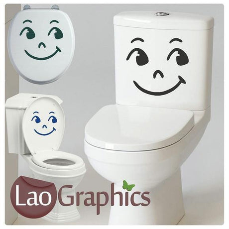 Face #1 Bathroom Toilet Stickers Home Decor Art Decals-LaoGraphics