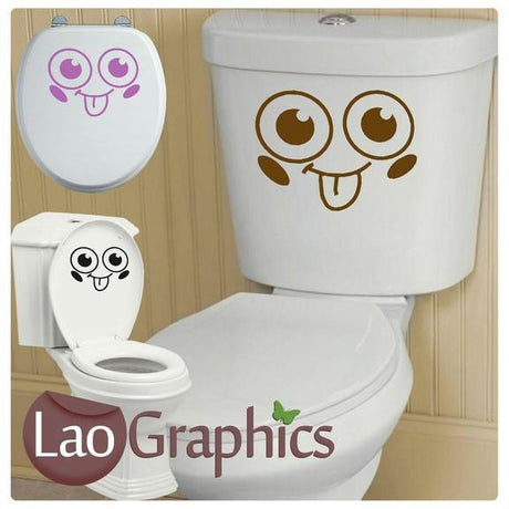 Face #2 Bathroom Toilet Stickers Home Decor Art Decals-LaoGraphics