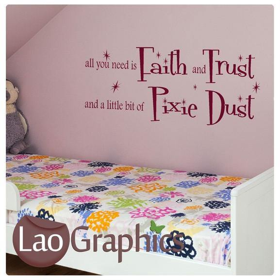 Fairy Dust Quote Girls Bedroom Wall Stickers Home Decor Art Decals