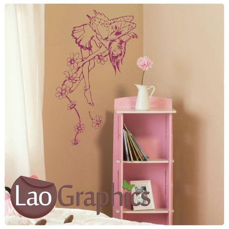 Fairy & Flower Wall Stickers Home Decor Art Decals-LaoGraphics