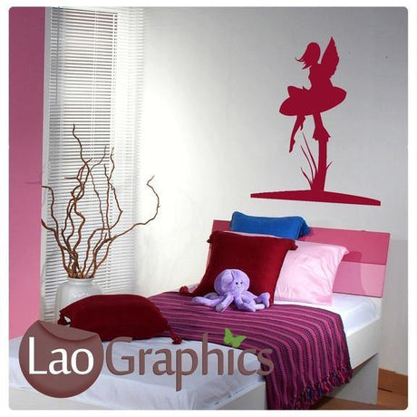 Fairy & Toadstool Girls Bedroom Wall Stickers Home Decor Art Decals-LaoGraphics