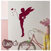 Fairy & Wand Girls Bedroom Wall Stickers Home Decor Art Decals-LaoGraphics