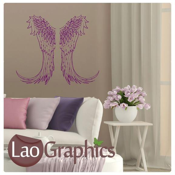 Fairy Wings Girls Bedroom Wall Stickers Home Decor Art Decals-LaoGraphics