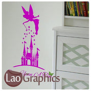 FairyTale Castle Girls Bedroom Wall Stickers Home Decor Art Decals-LaoGraphics