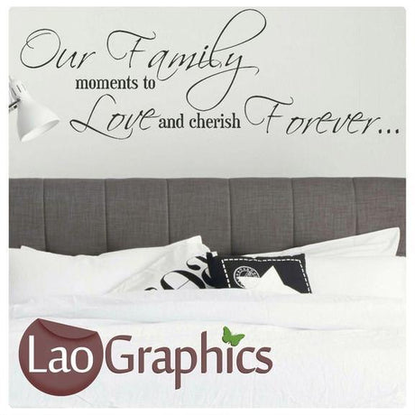 Family Moments Quote Modern Interior Quote Wall Stickers Home Decor Art Decals-LaoGraphics