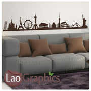 Famous Landmarks Skyline City Scape Wall Stickers Home Decor Art Decals-LaoGraphics