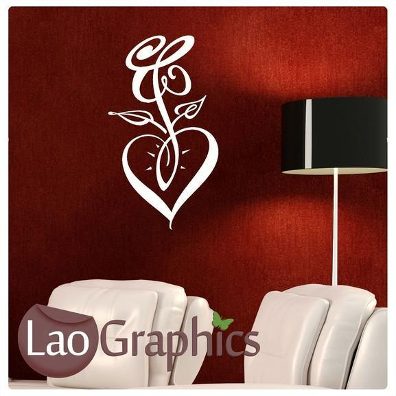 Fancy Heart Girls Room Wall Stickers Home Decor Pretty Art Decals-LaoGraphics