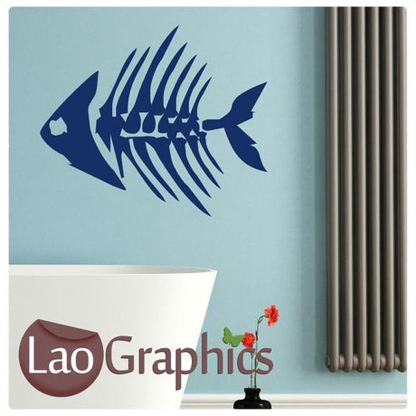 Fish Bones Boys Aquatic Wall Stickers Home Decor Art Decals-LaoGraphics