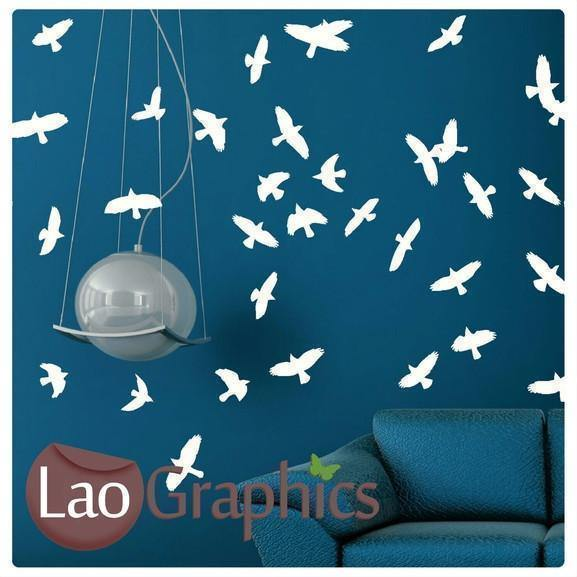 Flock of Birds Wall Sticker Home Decor Art Decals-LaoGraphics