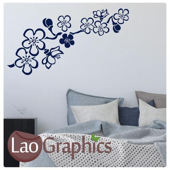 Floral Branch Decorative Nature Wall Stickers Home Decor Art Decals-LaoGraphics