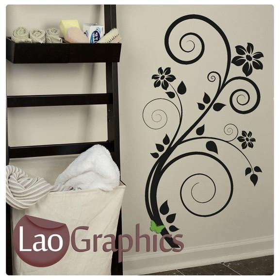Floral Flower Modern Interior Wall Stickers Home Decor Art Decals-LaoGraphics