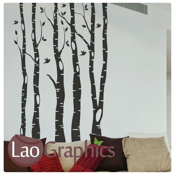 Forest Trees Nature Wall Stickers Home Decor Large Tree Art Decals LaoGraphics