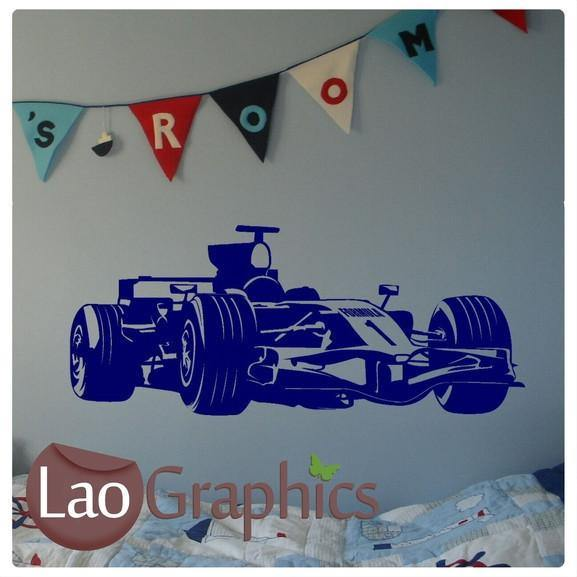 Formula 1 vehicle transport wall stickers home decor art decals laographics