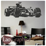 Formula 1 Vehicle Transport Wall Stickers Home Decor Art Decals-LaoGraphics