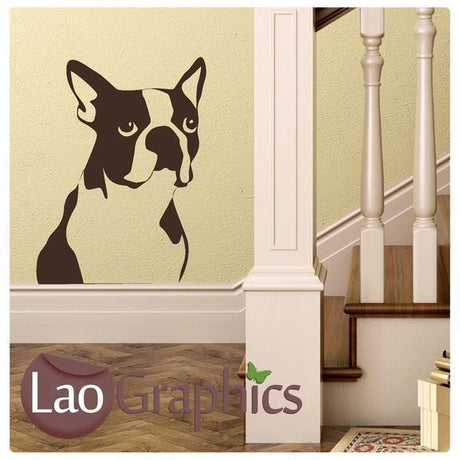 French Bulldog Canine Puppy Dog Lovers Wall Stickers Home Decor Art Decals-LaoGraphics