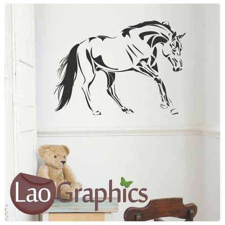 Full Horse Girls Room Wall Stickers Home Decor Animal Art Decals-LaoGraphics