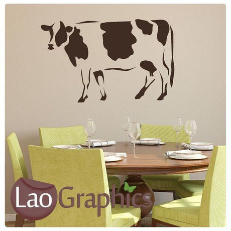 Full Size Cow Wild Animals Wall Stickers Home Decor Art Decals-LaoGraphics